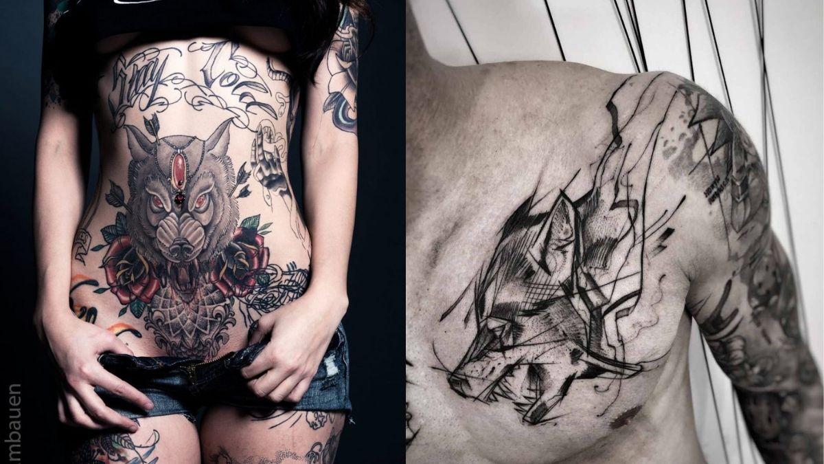 tatovering ulv inspirasjon