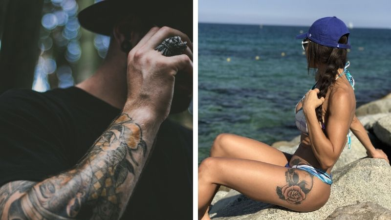 tatovering og sol