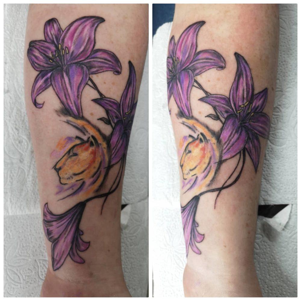 Vakre lilje tatovering ideer - blomst tattoos - Tatovert.no